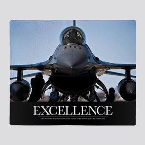 Motivational Poster: Air Force Poste Throw Blanket