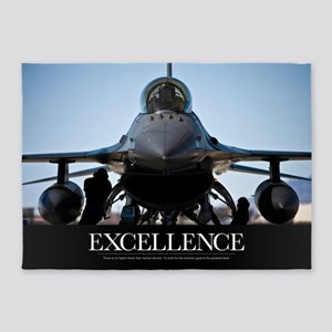 Motivational Poster: Air Force Post 5'x7'Area Rug