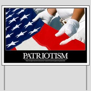Motivational Poster: US Flag Yard Sign