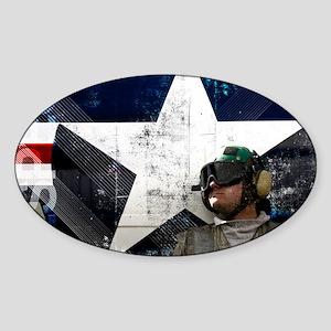 Motivational Grunge Poster: Respect Sticker (Oval)