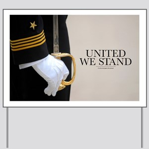 Military Poster: United We Stand Yard Sign