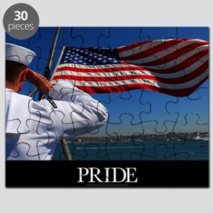 Military Poster: Pride, A sailor salutes th Puzzle