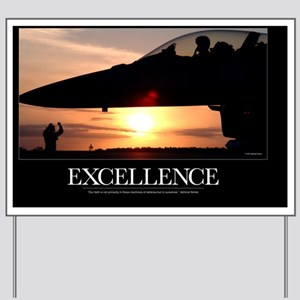 Military Poster: If We Are Strong, Our S Yard Sign