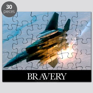 Military Poster: Brave men stand tall in th Puzzle