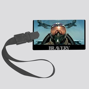 Military Poster: Brave men stand Large Luggage Tag