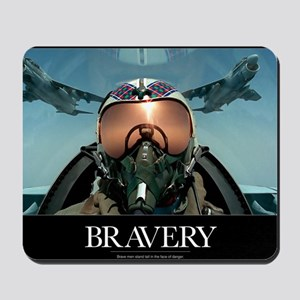 Military Poster: Brave men stand tall in Mousepad