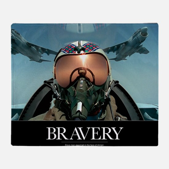 Military Poster: Brave men stand tal Throw Blanket