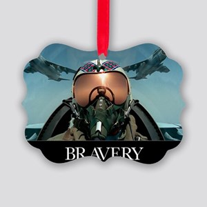 Military Poster: Brave men stand  Picture Ornament