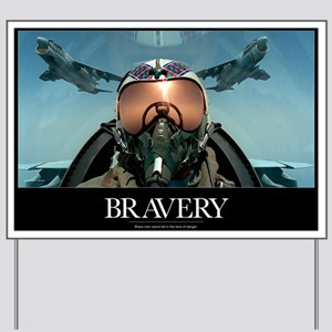 Military Poster: Brave men stand tall in Yard Sign