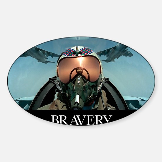 Military Poster: Brave men stand ta Sticker (Oval)