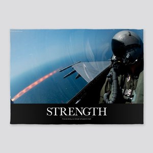 Military Poster: An F-16 Fighting F 5'x7'Area Rug