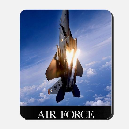 Military Poster: An F-15E Strike Eagle p Mousepad