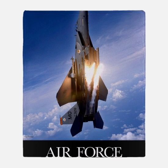 Military Poster: An F-15E Strike Eag Throw Blanket
