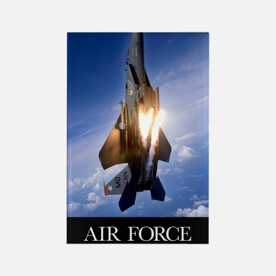 Military Poster: An F-15E Strike  Rectangle Magnet