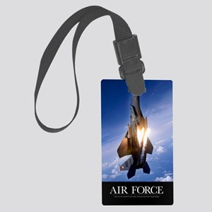 Military Poster: An F-15E Strike Large Luggage Tag