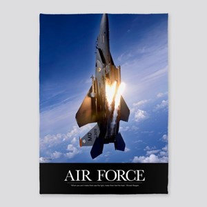 Military Poster: An F-15E Strike Ea 5'x7'Area Rug