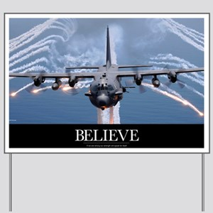 Military Poster: An AC-130H Gunship airc Yard Sign
