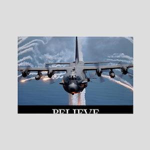 Military Poster: An AC-130H Gunsh Rectangle Magnet