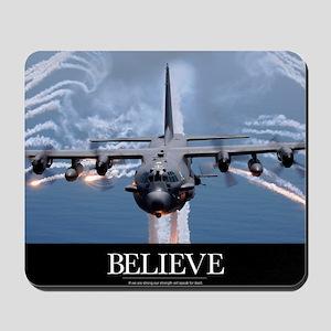 Military Poster: An AC-130H Gunship airc Mousepad