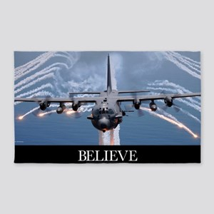 Military Poster: An AC-130H Gunship 3'x5' Area Rug