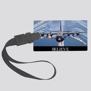 Military Poster: An AC-130H Guns Large Luggage Tag