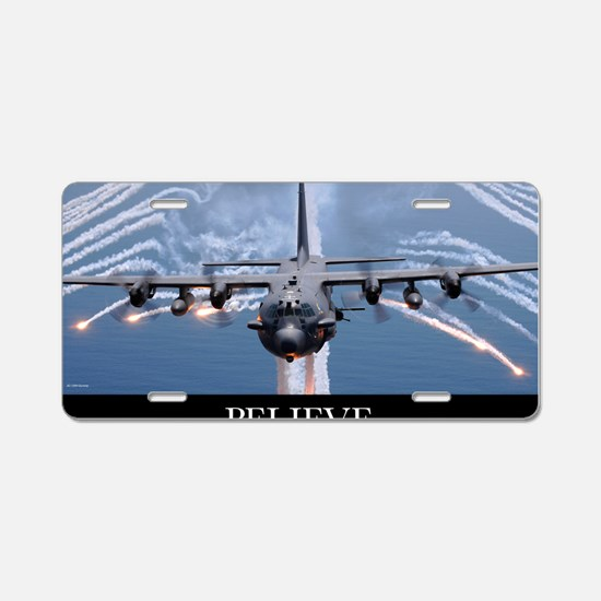 Military Poster: An AC-130H Aluminum License Plate