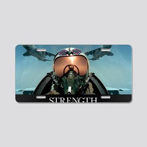 Military Poster: A pilot ta Aluminum License Plate