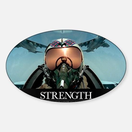 Military Poster: A pilot takes a se Sticker (Oval)