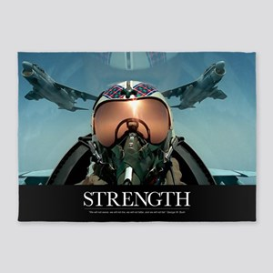 Military Poster: A pilot takes a se 5'x7'Area Rug