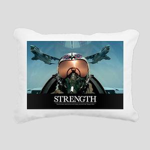 Military Poster: A pilot Rectangular Canvas Pillow