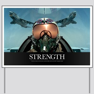 Military Poster: A pilot takes a self po Yard Sign