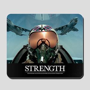 Military Poster: A pilot takes a self po Mousepad