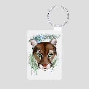 Midnight Puma Aluminum Photo Keychain