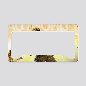 Military Grunge Poster: Autho License Plate Holder