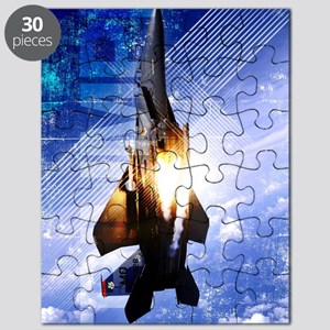 Military Grunge Poster: Triumph. An F-15E S Puzzle