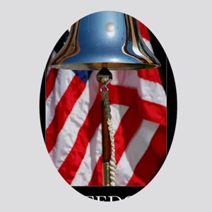 Patriotic Poster: A ceremonial ships Oval Ornament