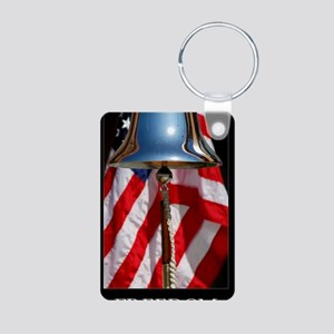 Patriotic Poster: A ceremo Aluminum Photo Keychain