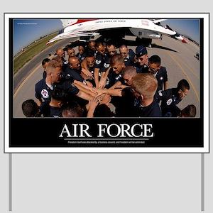 Military Poster: Air Force Thunderbird m Yard Sign