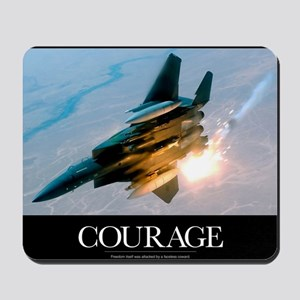 Military Poster: An F-15E Strike Eagle p Mousepad