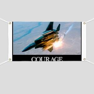 Military Poster: An F-15E Strike Eagle pops Banner