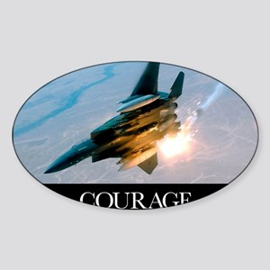 Military Poster: An F-15E Strike Ea Sticker (Oval)