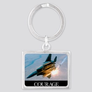 Military Poster: An F-15E Strik Landscape Keychain