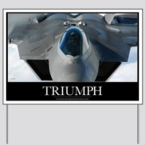 Military Poster: An F-22 Raptor prepares Yard Sign