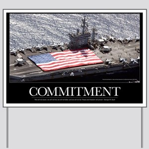 Military Poster: Personnel participate i Yard Sign