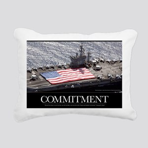Military Poster: Personn Rectangular Canvas Pillow