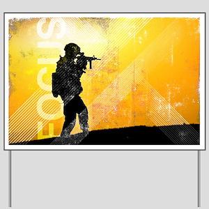 US Army Grunge Poster: Focus. U.S. Army  Yard Sign