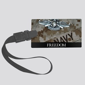 US Navy Poster : The Fleet Marin Large Luggage Tag