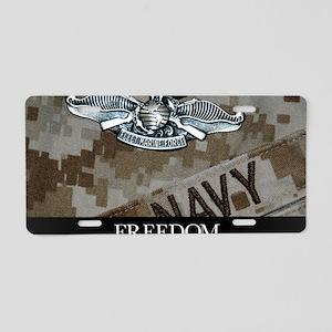 US Navy Poster : The Fleet  Aluminum License Plate