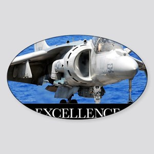 Air Force Poster: Excellence Sticker (Oval)