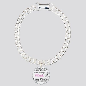 Cancer is Not Always Pin Charm Bracelet, One Charm